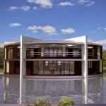 A nova casa de Messi. Tem um design muito alternativo!