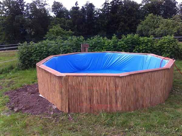 Como construir uma piscina com paletes super f cil e barato Piscinas estructurales