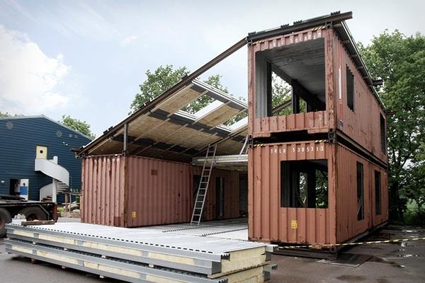 casa de sonho sustent vel feita a partir de contentores 1001 ideias. Black Bedroom Furniture Sets. Home Design Ideas