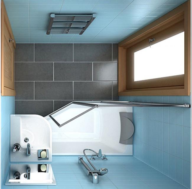 Sugest es excelentes para casas de banho pequenas 1001 ideias - Duchas pequenas ...