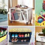 Sugestões super criativas de reutilizar caixas de madeira