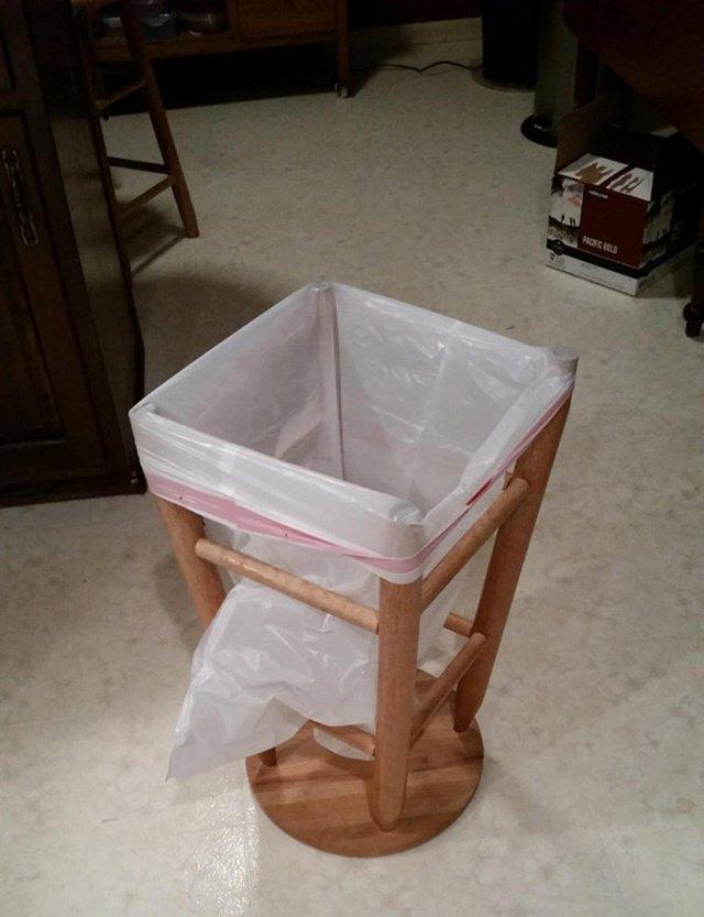 Como improvisar um lixo