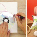 Aprende a criar uma caixa de presentes apenas usando uma cartolina e um CD!