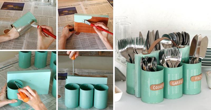 18 Fantásticas Ideias Para Reutilizar As Latas Velhas Lá De Casa