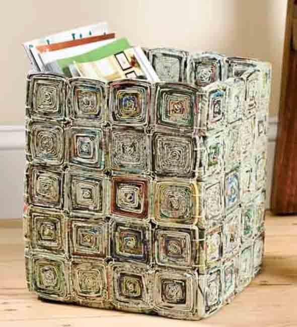 Aparador Ferro E Vidro ~ Ideias de artesanato com jornais e revistas Ideias para reciclar!