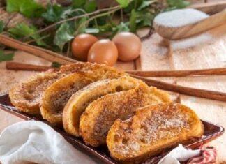 rabanadas com doce de ovos