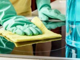 limpar fogão vidro