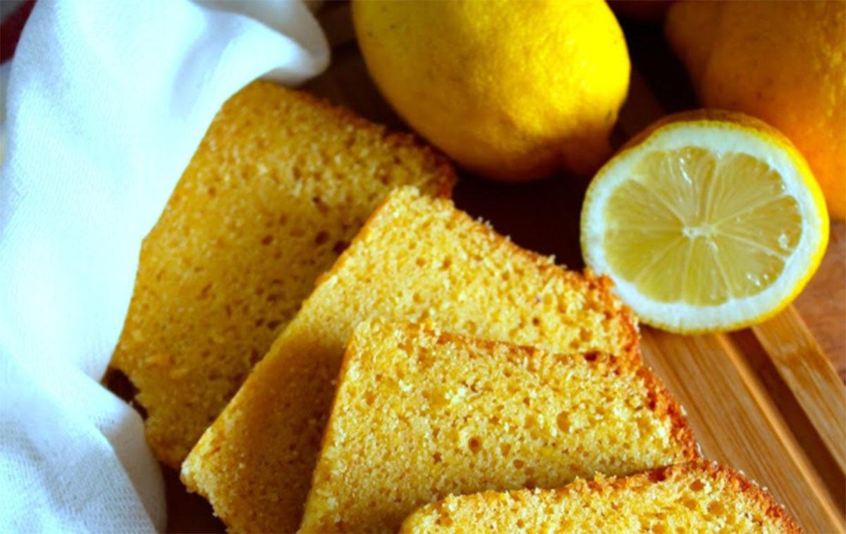 bolo limão e azeite